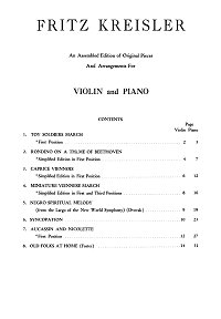Kreisler - Compilations for violin (8 pieces) - Instrument part - First page